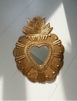 Miroir exvoto big déco bohème doré - Boutique L'anana(s)