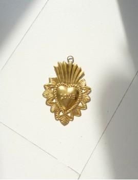 Coeur exvoto love déco hippie doré - Boutique L'anana(s)