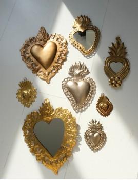 Miroir coeur gold - Boutique L'anana(s)