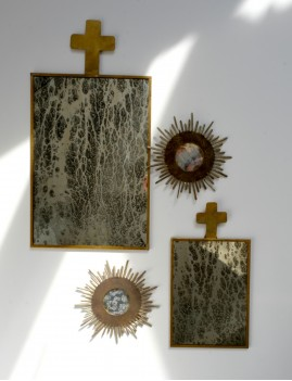 Miroir vintage croix bohème - Boutique L'anana(s)
