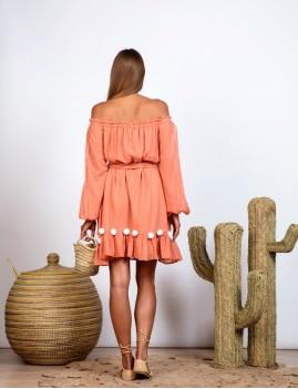 Robe épaules dénudées hippie - Boutique L'anana(s)