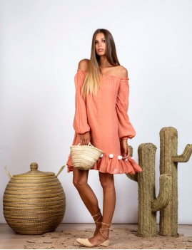 Robe épaules dénudées bohème - Boutique L'anana(s)