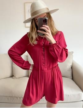 Combishort rouge hippie - Boutique L'anana(s)