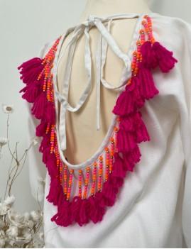 Robe pompons enfant - Boutique L'anana(s)