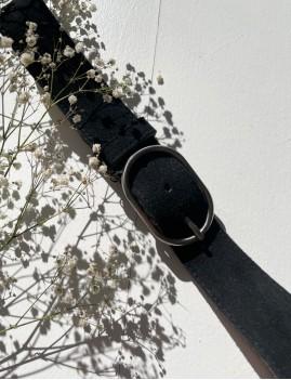 Ceinture en cuir bohème noir - Boutique L'anana(s)