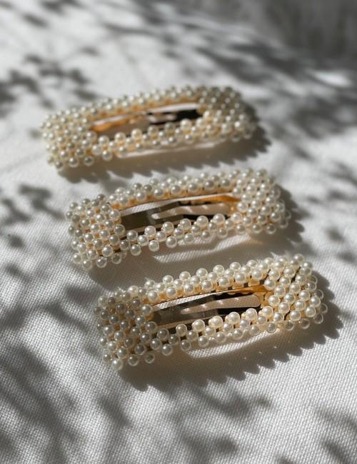 Barrette clip perles hippie - Boutique L'anana(s)