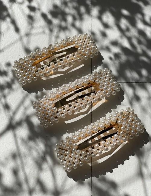 Barrette clip perles bohème - Boutique L'anana(s)