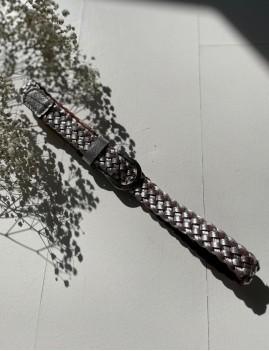 Ceinture en cuir tressé argenté - Boutique L'anana(s)