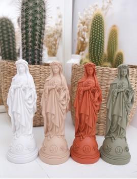 Statuette vierge aux fleurs pop bohème - Boutique L'anana(s)