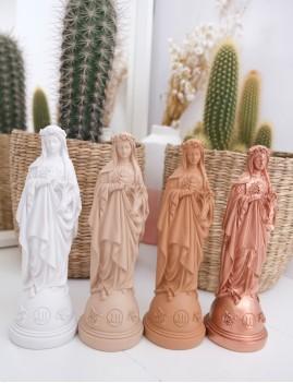 Statuette vierge aux fleurs pop cuivre - Boutique L'anana(s)