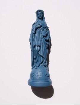Statuette vierge aux fleurs pop MARIE marine - Boutique L'anana(s)