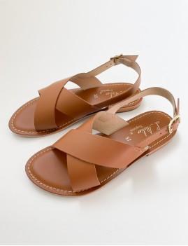 Sandales cuir beige - Boutique L'anana(s)