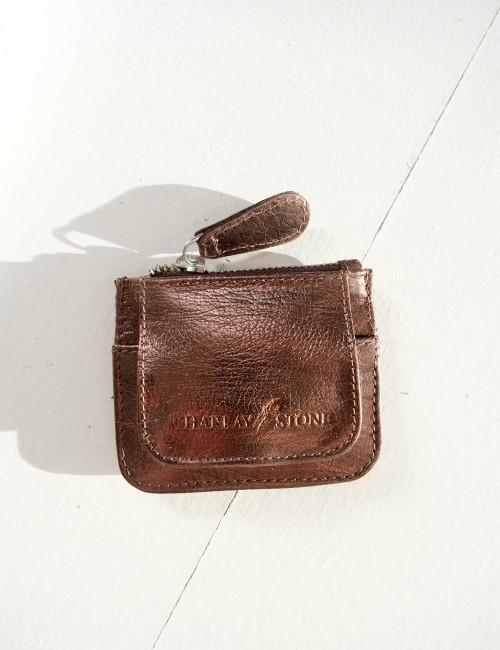 Mini porte monnaie en cuir bronze - Boutique L'anana(s)