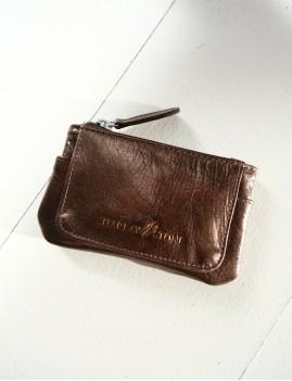 Porte monnaie en cuir bronze - Boutique L'anana(s)