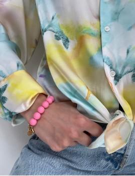 Bracelet en perles rose - Boutique L'anana(s)