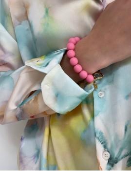 Bracelet en perles rose bohème - Boutique L'anana(s)