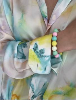 Bracelet en perles jaune - Boutique L'anana(s)
