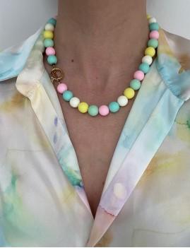 Collier en perles gipsy - Boutique L'anana(s)