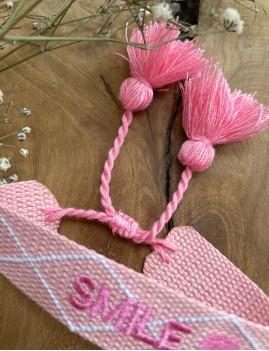 Bracelet tissé bohème rose - Boutique L'anana(s)