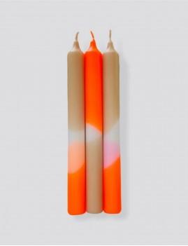 Lot de 3 bougies néon hippie déco - Boutique L'anana(s)
