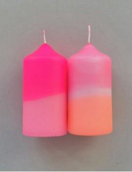 Lot de 2 bougies dip dye néon déco 6023 - Boutique L'anana(s)