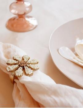 Set de 4 ronds de serviette perlés 13161 - Boutique L'anana(s)