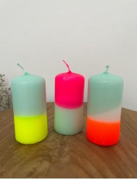Lot de 3 bougies dip dye néon - Boutique L'anana(s)