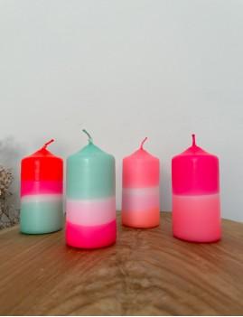 Lot de 2 bougies dip dye - Boutique L'anana(s)