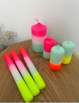 Lot de 3 bougies pastel - Boutique L'anana(s)