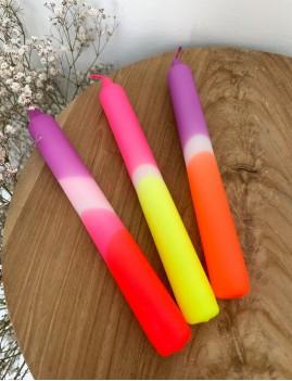 Lot de 3 bougies néon - Boutique L'anana(s)