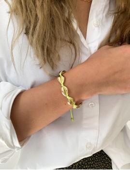 Bracelet coquillages dorés jaune - Boutique l'ananas