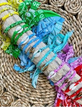 Bracelet bandana plage - Boutique l'ananas