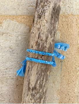 Bracelet bandana hippie bleu - Boutique l'ananas