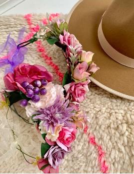Couronne de fleurs déco bohème - Boutique L'anana(s)