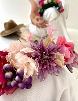 Couronne de fleurs bohème - Boutique L'anana(s)