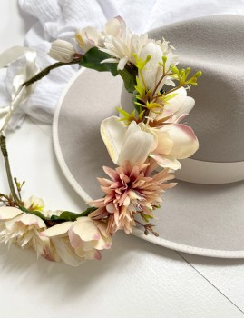 Couronne de fleurs hippie chic FLEURS12 - Boutique L'anana(s)