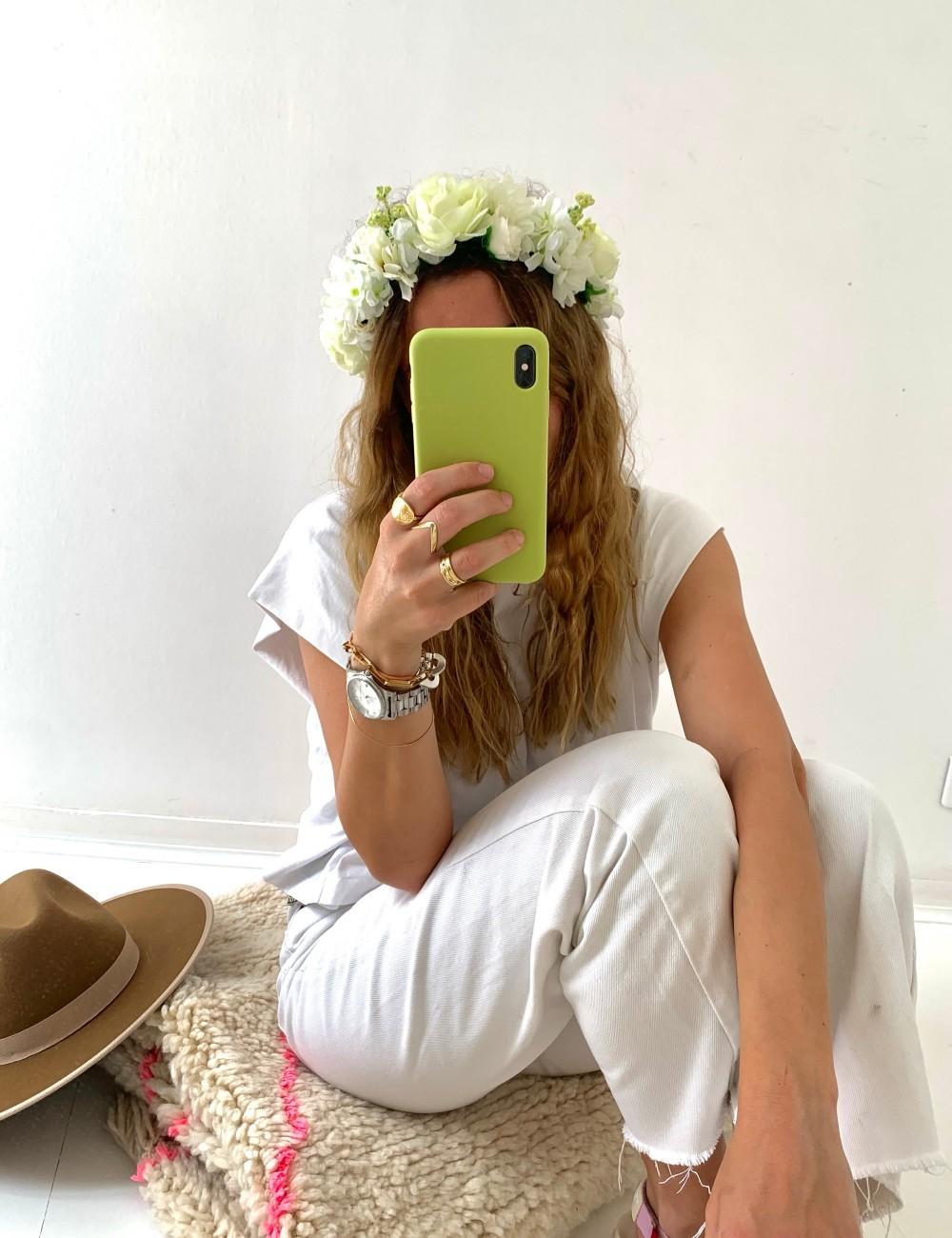 Couronne de fleurs bohème chic FLEURS11 - Boutique L'anana(s)