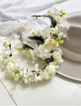 Couronne de fleurs bohemian girl FLEURS11 - Boutique L'anana(s)