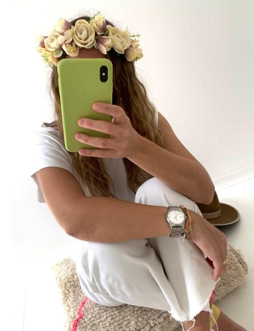 Couronne de fleurs bohème chic FLEURS10 - Boutique L'anana(s)