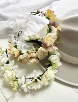 Couronne de fleurs hippie FLEURS10 - Boutique L'anana(s)