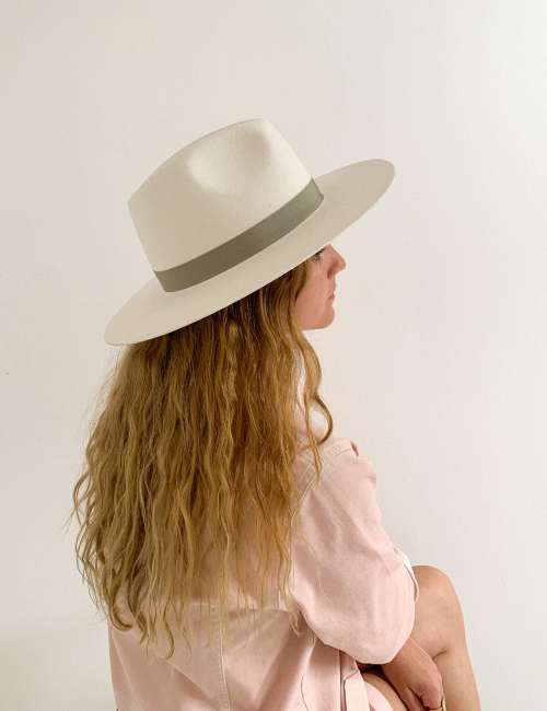 Chapeau hippie blanc SACHA - Boutique L'anana(s)