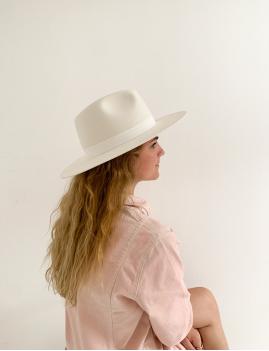 Chapeau laine summer vibes blanc BILLIE - Boutique L'anana(s)