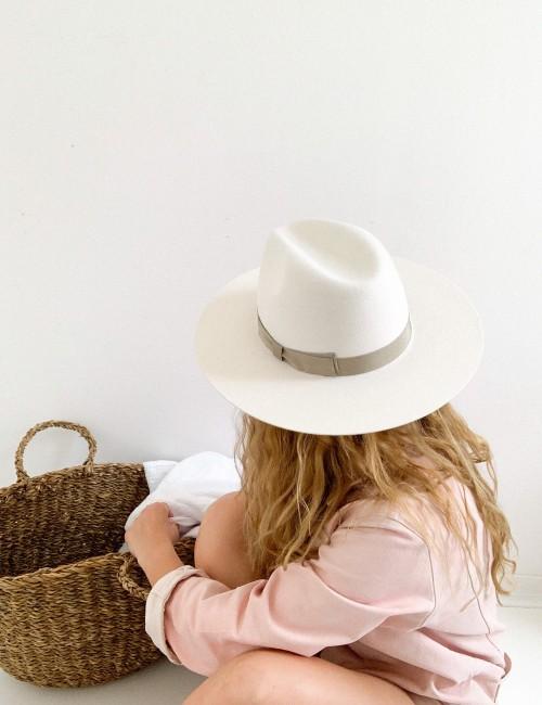 Chapeau bohème vibes blanc SACHA - Boutique L'anana(s)