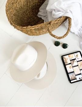 Chapeau laine hippie blanc BILLIE - Boutique L'anana(s)