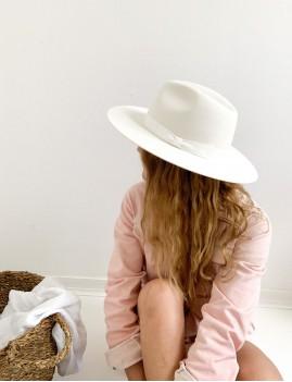 Chapeau laine bohème blanc BILLIE - Boutique L'anana(s)