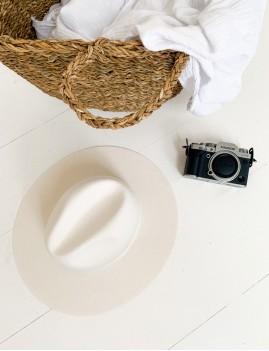 Chapeau blanc hippie chic BILLIE - Boutique L'anana(s)