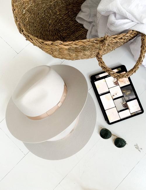 Chapeau bohème vibes off-white LENA - Boutique L'anana(s)