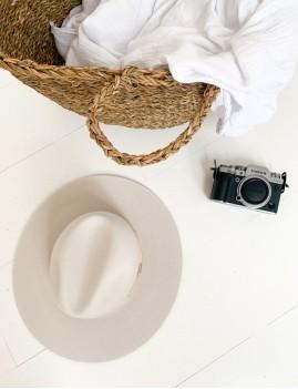 Chapeau laine hippie off-white LENA - Boutique L'anana(s)