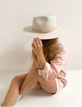 Chapeau laine bohème off-white LENA - Boutique L'anana(s)