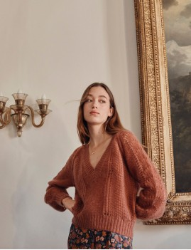 Pull hippie maille ajourée SALICIA - Boutique L'anana(s)